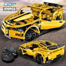Bloques de construcción para niños, juguete de ladrillos para armar coche de carreras eléctrico a Control remoto, Serie de alta tecnología, ideal para regalo, 419 Uds.