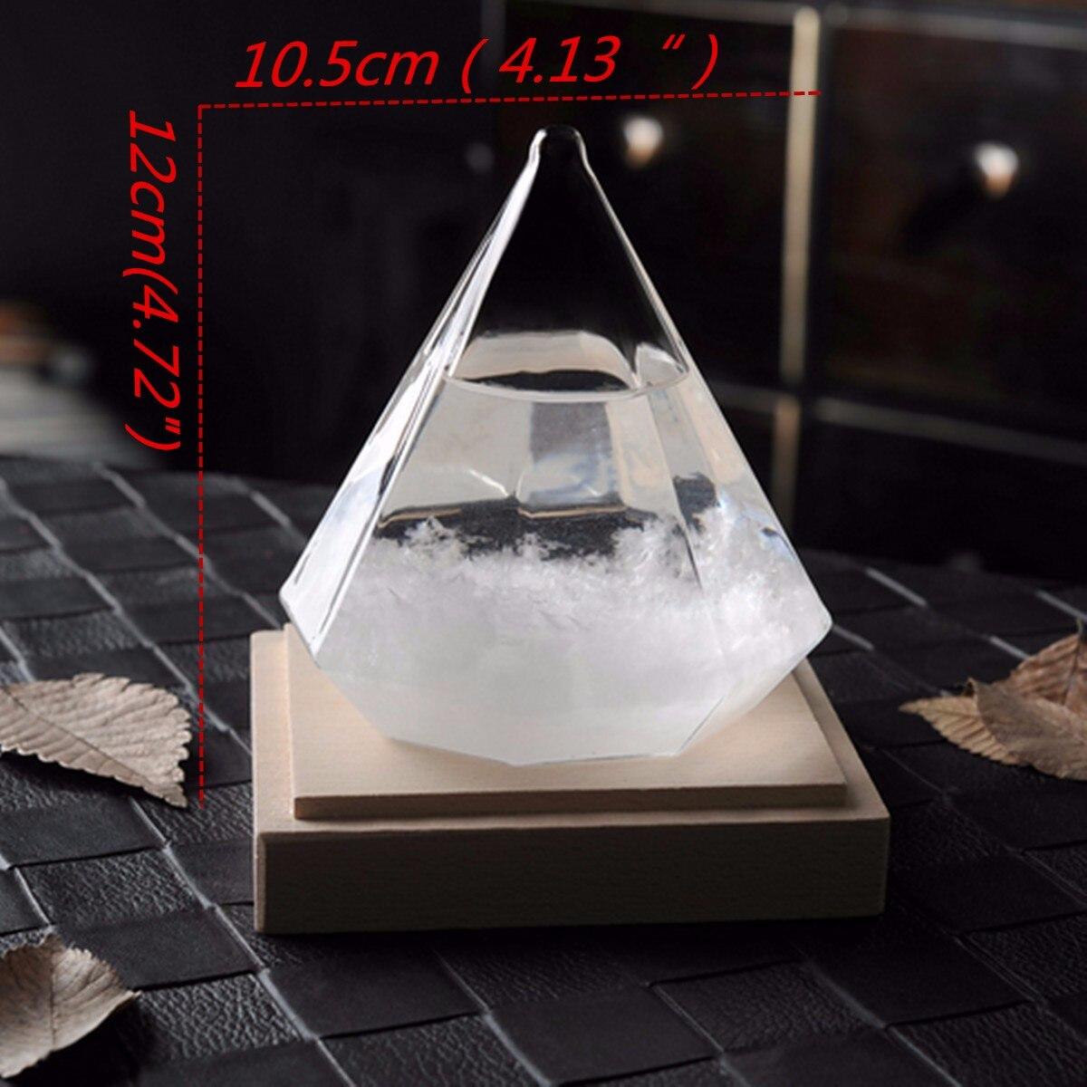 Прозрачные ледяные алмазные бури стекло, снежинка, погода, штормы, предсказатель, монитор, бутылка, барометр, домашний декор, фигурки