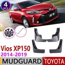 Para Toyota Yaris Vios Sedan 2014 ~ 2019 XP150 Mudflap guardabarros de guardabarros guardia Splash solapa 2015 accesorios 2016 2017, 2018