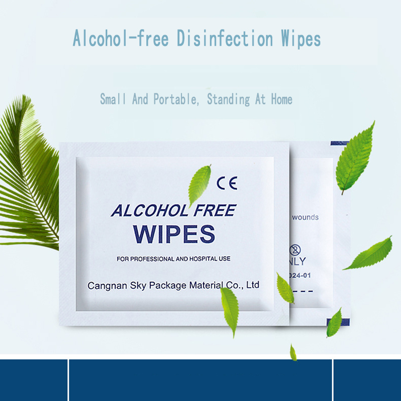 Portable 10PCS Professional Disinfection Cotton Swab Pad Wet Wipes Alcohol-Free Chlorhexidine First Aid Household Skin Cleaner