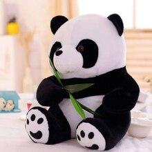 1 pc 9 16cm 사랑스러운 귀여운 슈퍼 박제 동물 부드러운 팬더 플러시 장난감 생일 크리스마스 아기 선물 선물 어린이위한 박제 장난감