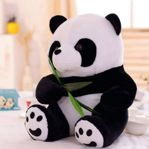 Image 1 - 1PC 9 16cm belle mignon Super peluche Animal doux Panda en peluche jouet anniversaire noël bébé cadeaux présents jouets en peluche pour les enfants