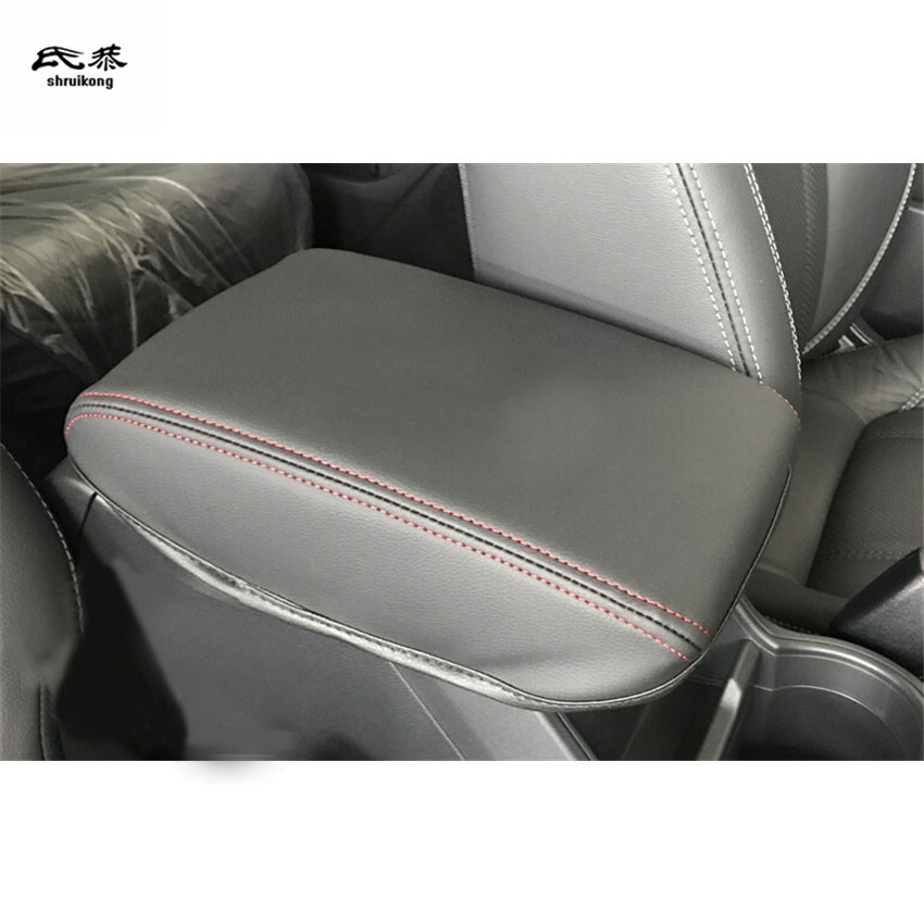 its us Synthetic Leather Center Console Lid Armrest Cover for 2019 2020 Subaru Forester B