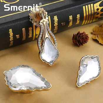 5pcs Noble Door Handles Crystal Kitchen Cabinets Knobs and Handles Diamond Door Handle European Furniture Handle Drawer Pulls - DISCOUNT ITEM  35% OFF All Category