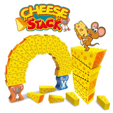 Mouse Stack Cheese Arch Jenga ChildrenS Puzzle Board Game Toy Parent-Child Interaction Double Cooperation