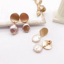 Free Shipping Irregular Baroque Pearls Korean Earrings
