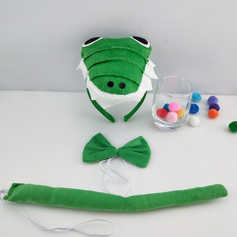 Детская повязка на голову с ушками животных для мальчиков и девочек; комплект с галстуком-бабочкой и хвостом для детей и взрослых; карнавальный костюм; вечерние аксессуары для волос - Цвет: 37