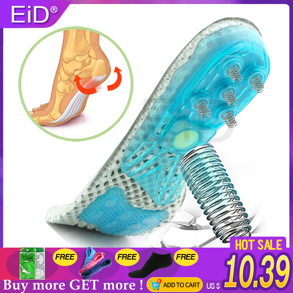 EVA Spring Silicone Orthopedic Shoes Sole Insoles Flat Feet Orthotic Insoles Arch Support Inserts Plantar Fasciitis,foot Care