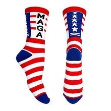 Президент Дональд Трамп носки года, дышащие эластичные полосатые носки для спорта