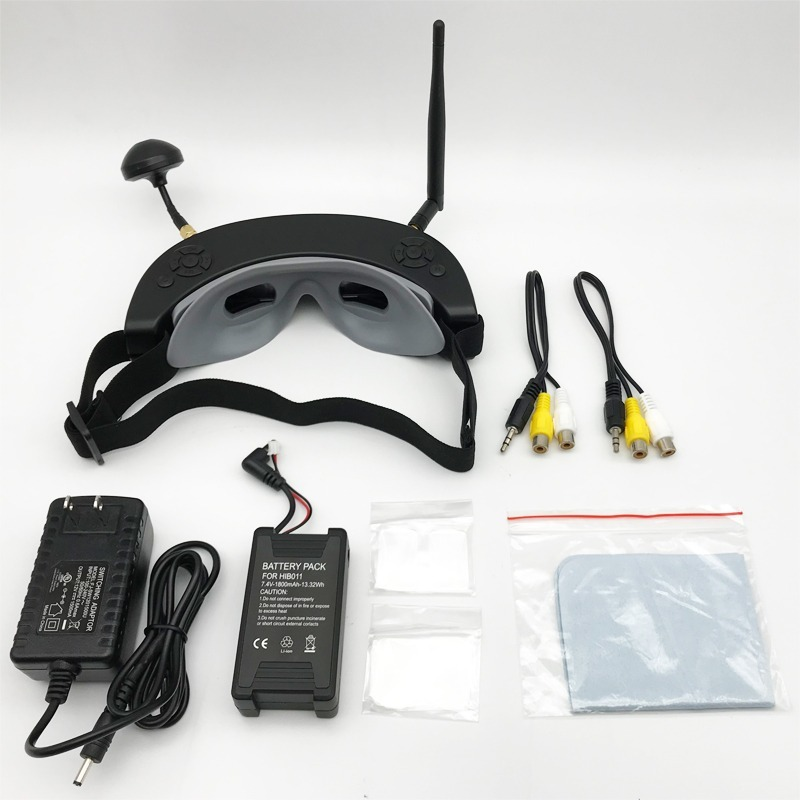 Wholesale High Quality 854*480 3D 5.8G 40CH <font><b>FPV</b></font> <font><b>Goggles</b></font> with Head Tracking HD Port Playback for RC <font><b>Drone</b></font> Quadcopter <font><b>FPV</b></font> Racer image
