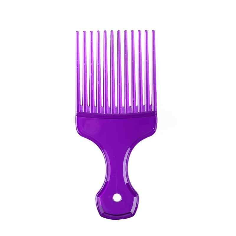 Wanita Pria Gigi Lebar Rambut Fork Sisir High-Grade ABS Portabel Ringan Berat Tata Kecantikan Rambut Keriting Afro Pijat Masukkan Sikat
