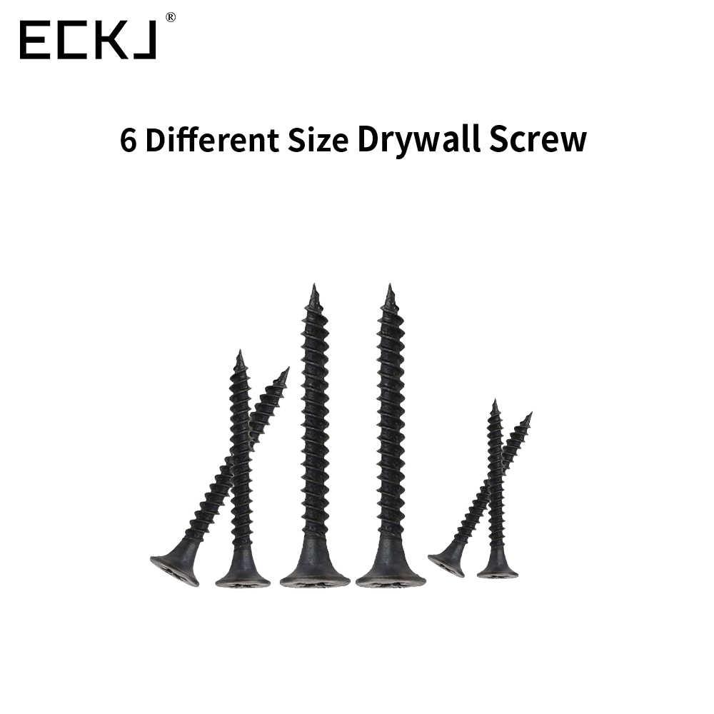 ECKJ 110 יח'\סט בנייה בגבס בורג צלב ראש שטוח פיליפס Countersunk ראש גבס גזע קיר בורג M3.5