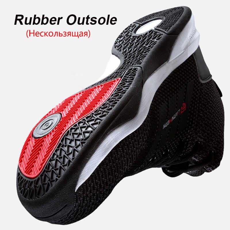 LARNMERN erkek çelik ayak emniyet iş ayakkabısı erkekler için nefes hafif Anti-smashing kaymaz yansıtıcı koruyucu bot