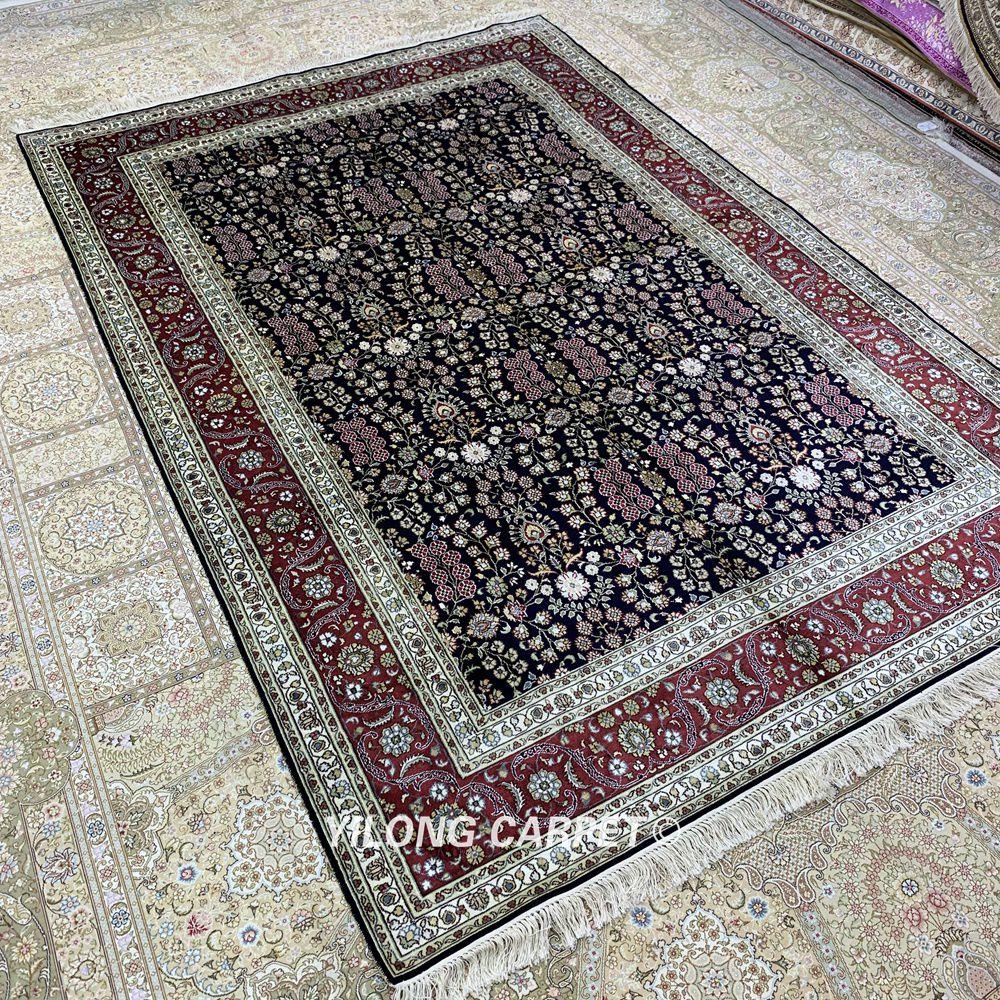 Yilong 5.5'x8 antik buatan tangan karpet, Tangan diikat diskon karpet - Tekstil rumah - Foto 3