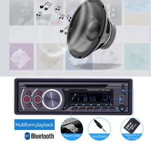 Image 3 - 1 عرض سيارة CD DVD VCD لاعب بلوتوث 4.0 يدوي راديو FM إخراج الفيديو الموسيقى مشغل ديفيدي/USB/AUX/TF LCD السيارات الوسائط المتعددة