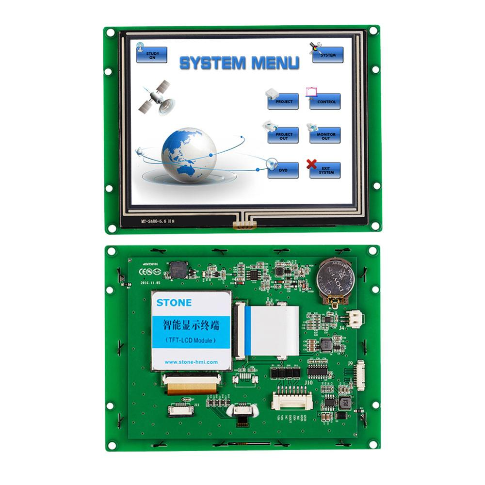 STONE Intelligent 5.6 Inch Programmable TFT LCD Touch Screen Display With Controller Board+Software Support Any MCU