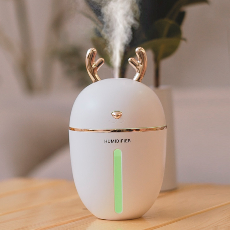 450ml Large Capacity Cute Deer Air Humidifier Nightlight USB Charging Aromatherapy Essential Oil Air Diffuser Mist Maker For Car
