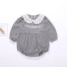 Одежда для малышей; маленьких девочек; Комбинезон с длинными