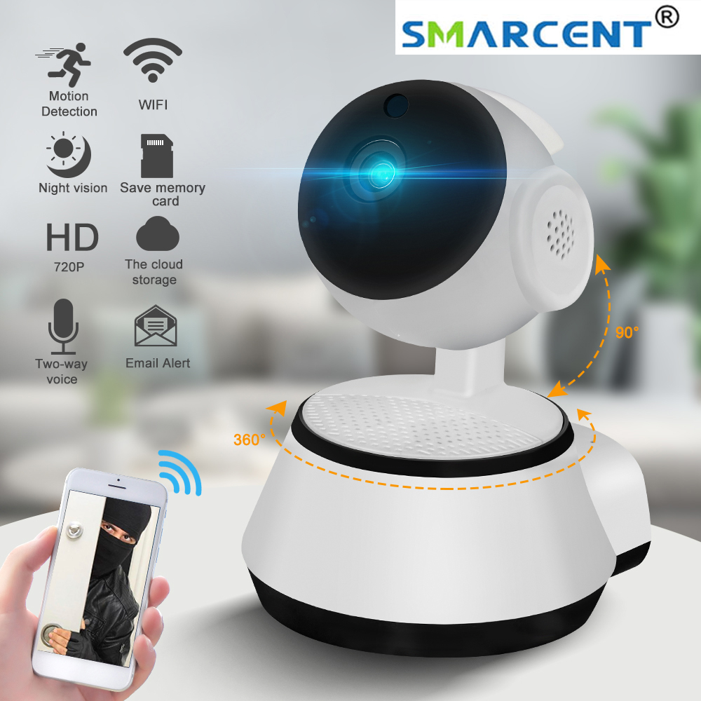 720P Home Security Camera IP Smart Camera WIFI Wireless Support Memory Card Playback Audio Record Night Version Surveillance