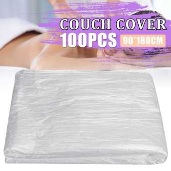 100 unids/set impermeable y a prueba de aceite Spa cubierta de cama de masaje sábana de salón de belleza mesa de Spa película de cama de belleza transparente