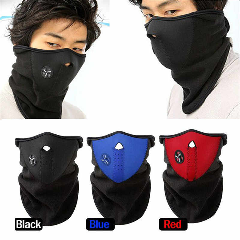Half Face Mask Motorcycle Balaclava Face Shield Cover Cycling Riding Snowboard Outdoor Sports Windproof Warm Winter Neck Mask