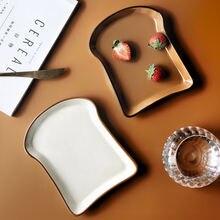 Керамическая тарелка для хлеба слово фруктовая десертная твердая