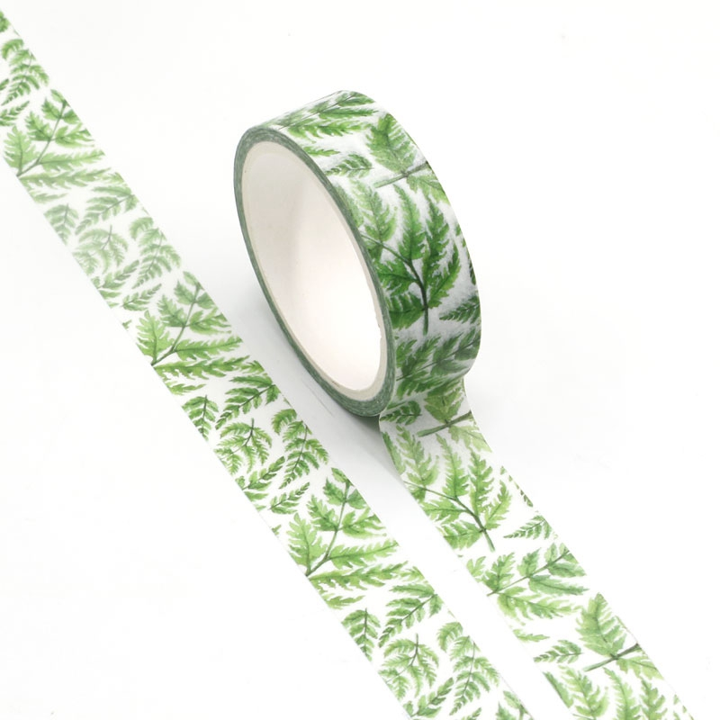 NEW Wholesale 10pcs/lot Decorative Tropical Plants Washi Tapes DIY Scrapbooking Planner Adhesive Masking Tapes Kawaii Stationery