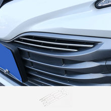 GRADE CROMADA GRIL INSERÇÃO GUARNIÇÃO DECORE MOULDING TAMPA DO CORPO PARA TOYOTA CAMRY 2018 2019 2020 ACESSÓRIOS DO CARRO CARRO STYLING