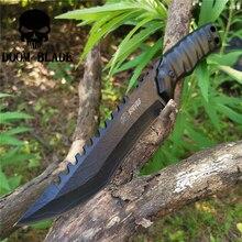 Cuchillo táctico de hoja fija de acero 8CR13MOV, Cuchillos militares de buceo, bueno para caza, Camping, supervivencia, para exteriores y llevar todos los días