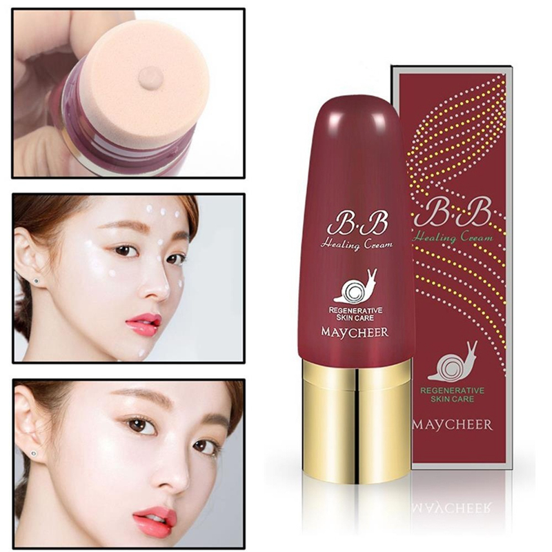 BB Cream Face Liquid Foundation Snail Essence Repair Moisturizing Whitening Brighten Concealer Base BB CC Cream Makeup Maquillag
