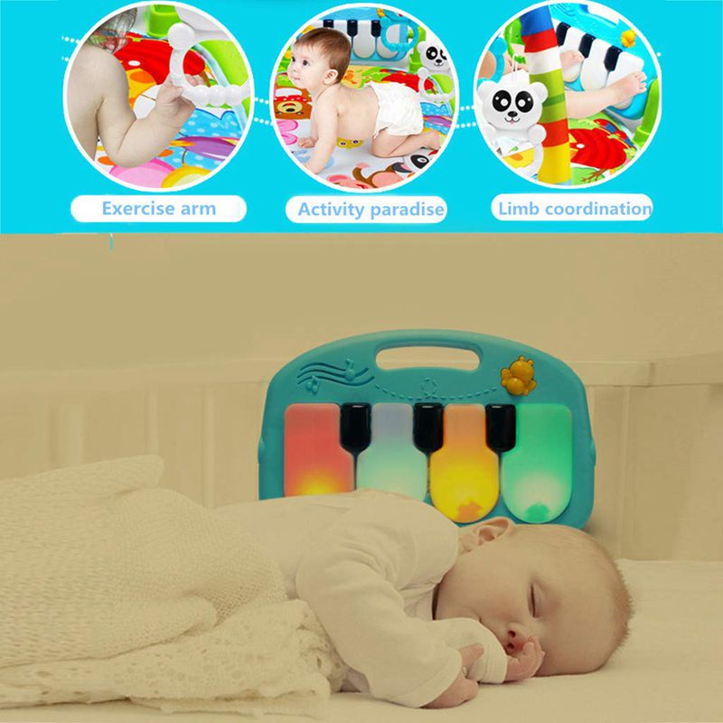 H4e878fa022e34600a184cf814f3ccb64c Play Mat Baby Carpet Music Puzzle Mat With Piano Keyboard Educational Rack Toys Infant Fitness Crawling Mat Gift For Kids Gym