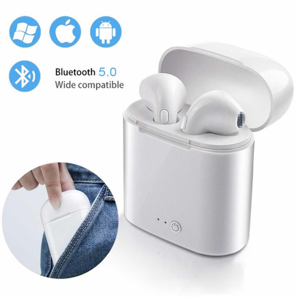 Auricolari Bluetooth I7s TWS Sport Fitness Senza Fili Cuffie Stereo Senza Fili di Bluetooth del Trasduttore Auricolare Con Scatola di Carico per Tutto il Telefono
