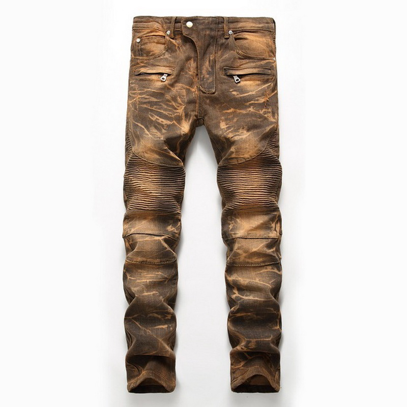 Denim Designer For Men'S Bike Moto Jeans Stretch Straight OverSize 28 40 42 2020 Spring Autumn Winter HIP HOP Punk Streetwear
