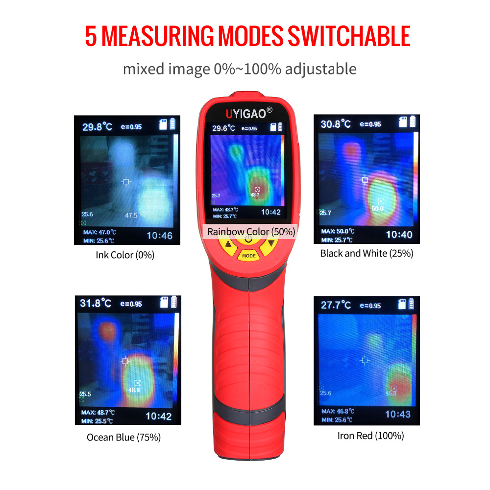 Digital Mini Infrared Thermal Camera Made With ABS Material For Measuring Tools 10