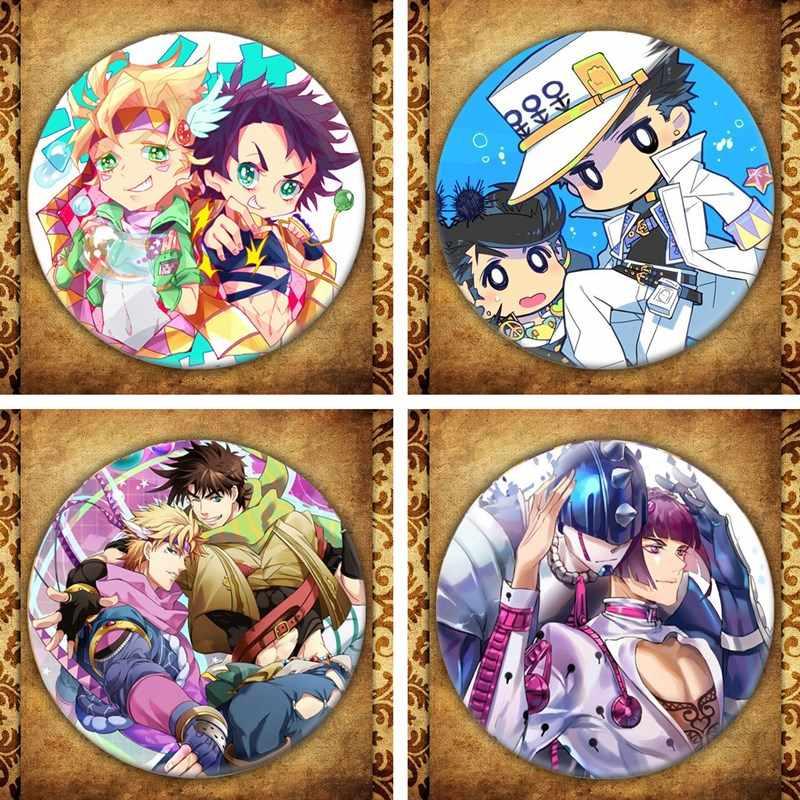 Anime Jojo Bizarre Adventure Cosplay Badge Cartoon Figuur Rugzakken Kleding Broche Pins Sieraden Collectie Afstuderen Gift