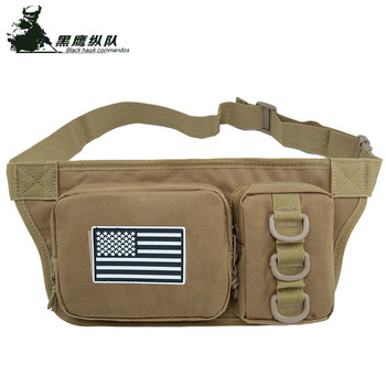 Sports Bag Female Lumbar Oblique Shoulder Bag Expand Military Package Camouflage Bag Male Bag