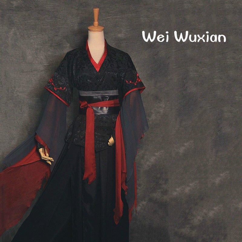 Cosplay Chinese Style Mo Dao Zu Shi Wei  Wuxian Costume Exquisite Embroidery Anime Grandmaster Of Demonic Cultivation Clothing