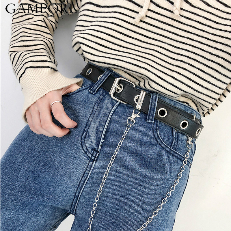 GAMPORL Waist Band Garters Female Leather Harness Leg Cage Link Chian Belts Adjustable Body Lingerie For Women Accessories