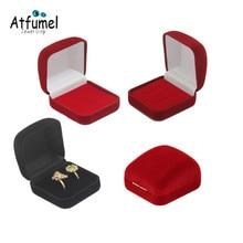 Velvet Ring Jewelery Box Earring Jewelry Organizer Ring Jewelry Storage Gift Box Wedding Engagement Ring Box Red Box For Rings