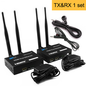 Image 5 - 5GHz Senza Fili di Trasmissione HDMI Extender Trasmettitore Ricevitore Video Converter 100M 200M Wireless Wifi HDMI Sender DVD PC per TV