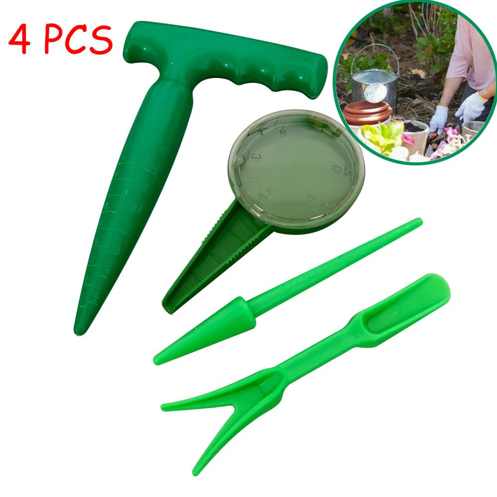 4pcs Soil Puncher Sowing Tools Plant Migration Planting Nursery Gardening Supplies Garden Tool