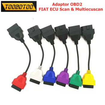 For Fiatecuscan OBD2 Connector Diagnostic Cable For Fiat ECU Scan MultiECUScan Adaptor Fiat ECU 6/4/3 Pcs Cables 2017car diagnostic cable for bmw enet obd2 16pin ecu interface cable e sys icom coding f series esys f25 x3 gt data cable