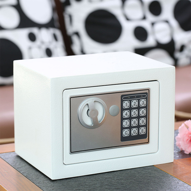 Digital Safe Box Mini Steel Safes Money Bank Small Household Password Key Safety Security Box Keep Cash Jewelry Document