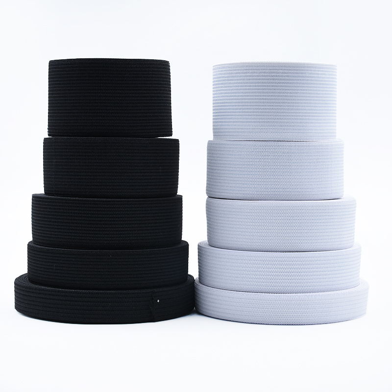 10/15/20/25/30/35/40/50mm 1-5 Meter Flat Elastic Bands White Black Spandex Elastic Ribbon DIY Crafts Trousers Sewing Accessories