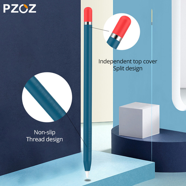 PZOZ For Apple Pencil 2 1st 2nd Case Pencil case Tablet Touch Stylus Pen Protective Cover Pouch Portable Soft Silicone Case 4