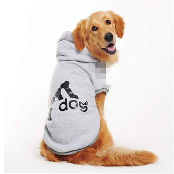 Pet Products Dog Clothing Coat Jacket Hoodie Sweater Clothes For Dogs Cotton Clothing For Dogs Sports Style Pet Dog Clothes image