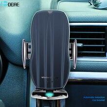 15w rápido carregador de carro sem fio para iphone 11 xs xr x 8 7 samsung s20 s10 qi sensor automático magnético usb para xiaomi redmi huawei