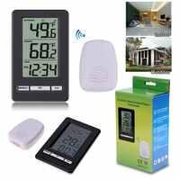 TS-WS-47 Drahtlose Digitale Thermometer Indoor Outdoor Thermometer Zeit Display Uhr Tisch Stehen Wetter Station