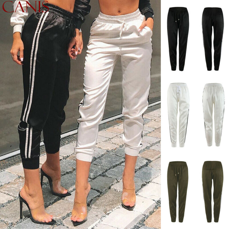 Goocheer 2019 New Women Fashion Casual Comfy Fitness Pants Running Gym Sport High Waist Jogging Pants Trousers