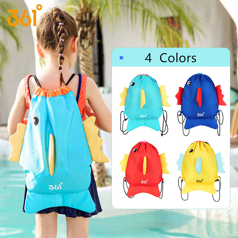 361 Waterproof Backpack For Kids Drawstring SwimBags For Boys Girls Dry Wet Compartments Beach Bag For Camping Pool Outdoor